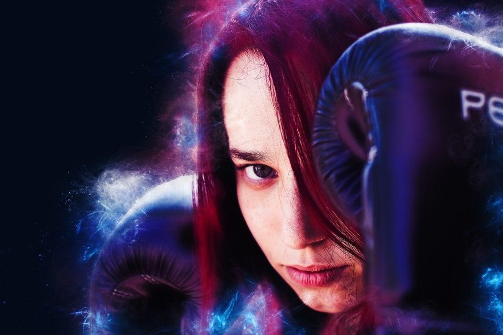 female boxer up close - feature image