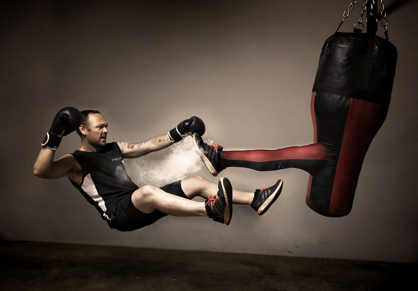 kickboxing punch bag