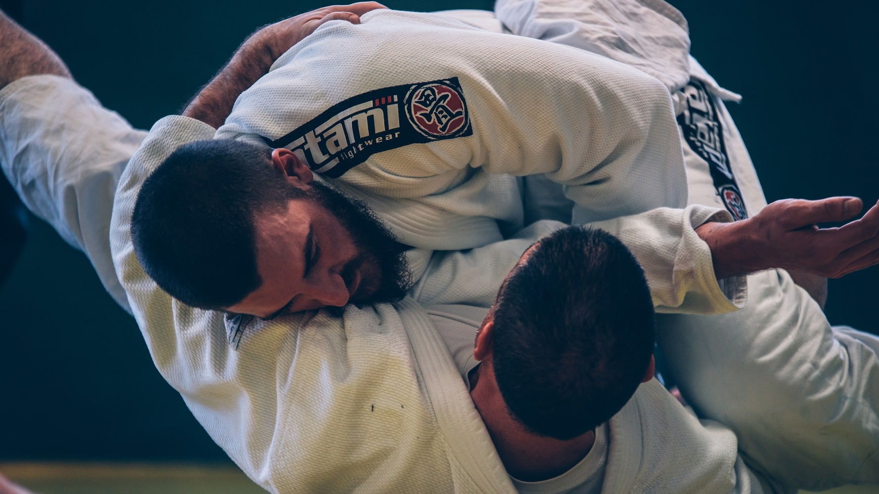BJJ fighters in action